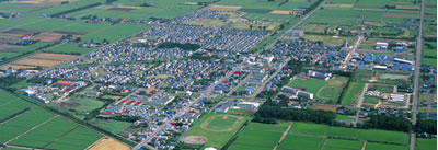 上空から見た南幌町